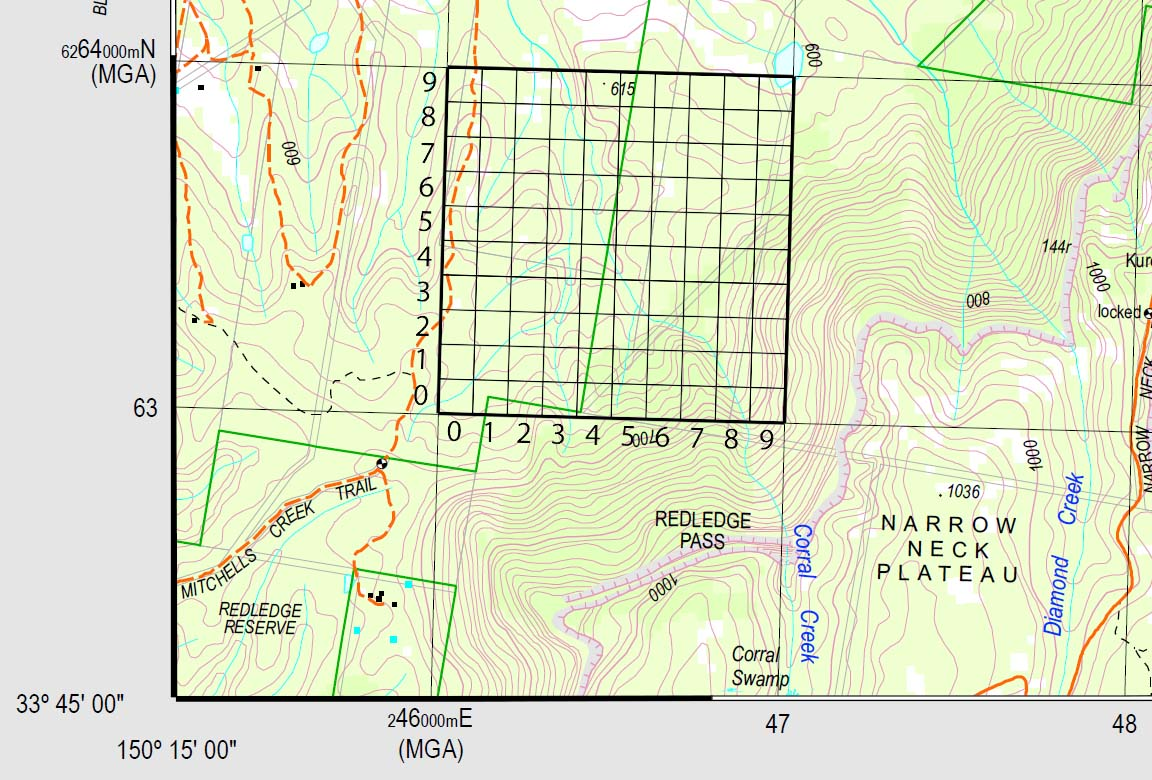 Map references ozultimate canyoning excerpt from katoomba map showing grid reference gumiabroncs Choice Image